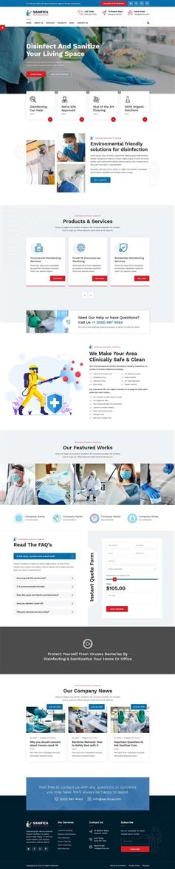 响应式医疗清洁公司官网bootstrap模板