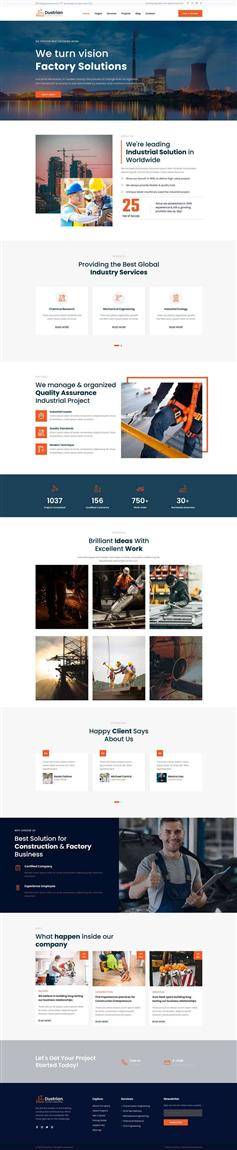 重工业集团官网响应式HTML模板