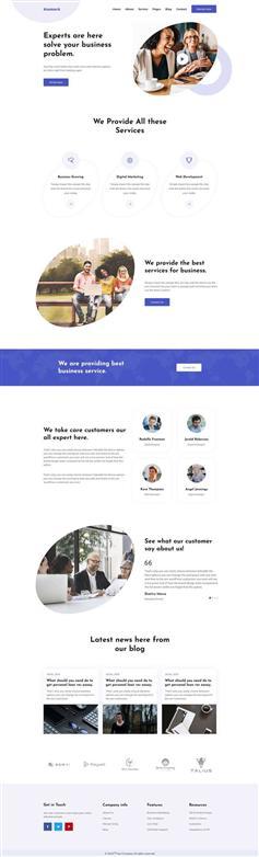 bootstrap4商务方案解决公司网站模板