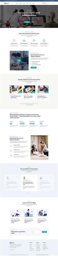 LMS在线教育业务平台网站静态模板