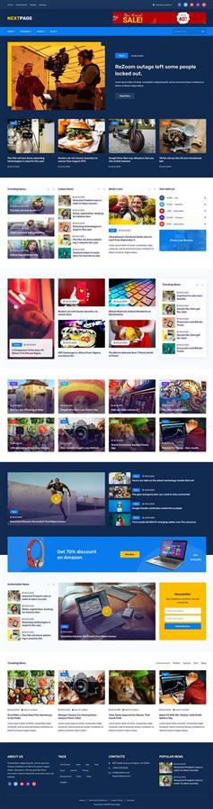 图片新闻资讯网页前端模板