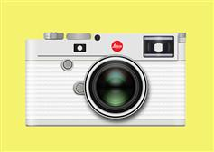 CSS3银白色数码照相机特效