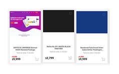 jQuery卡片式商品列表加购特效