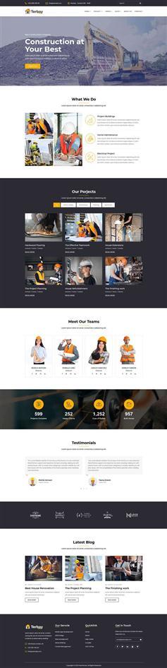 bootstrap房地产建筑工程公司网页模板