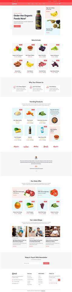 响应式html5生鲜水果超市电商网站模板