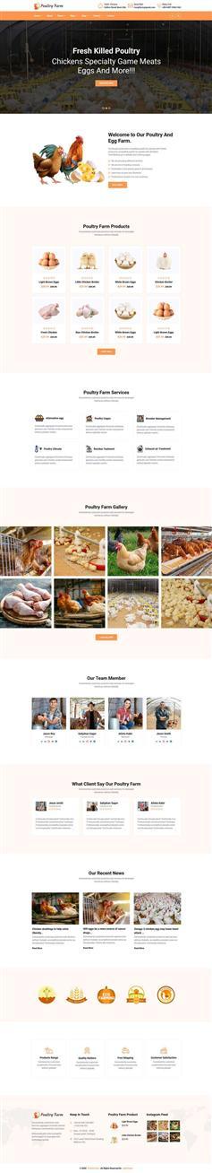 HTML5有机家禽养殖公司网站响应式模板