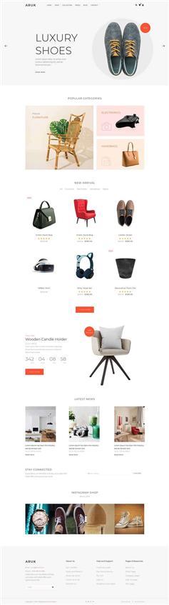 自适用手机端的生活购物电子商务html模板