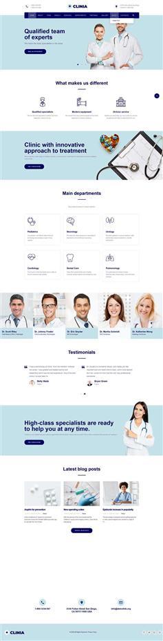 医疗诊所服务网站HTML5模板