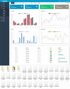 app商城销售后台统计页面模板