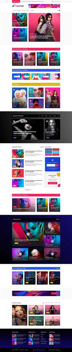 娱乐新闻图片博客响应式html模板