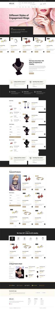 大气的珠宝首饰商城平台网页模板