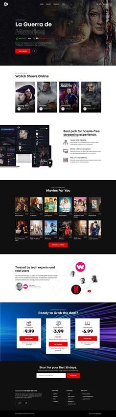 在线3D高清影院网页模板