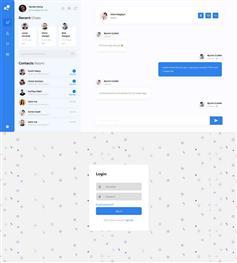 漂亮的html社交聊天平台响应式模板