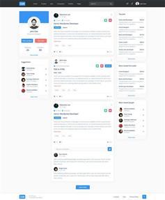 HTML人才招聘資訊社交網站模板