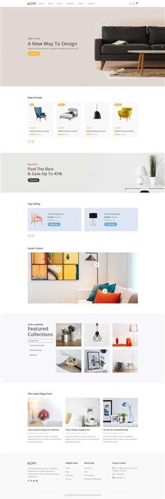 简洁响应式生活家具商店网站HTML模板