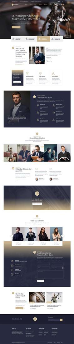 大气法务咨询律师事务所网站HTML模板