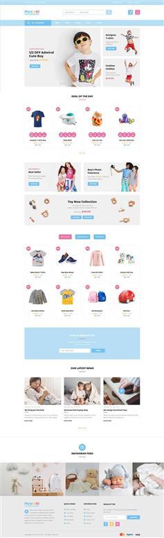 卡通样式儿童商店电商网站HTML页面模板