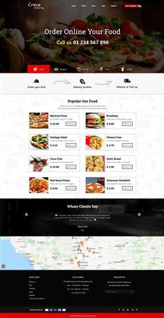 在線披薩訂餐外賣網頁HTML模板