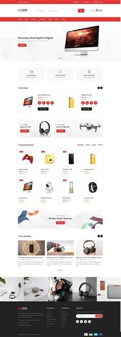 响应式手机数码电子商店HTML模板