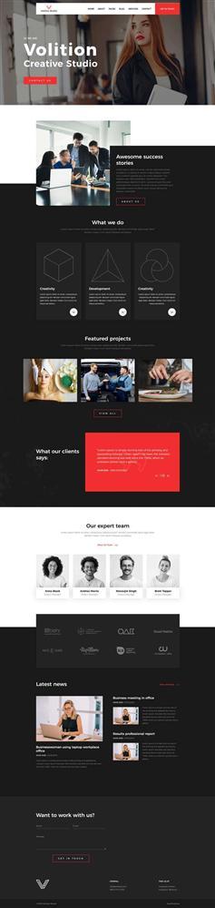 炫酷项目咨询工作室网站HTML模板