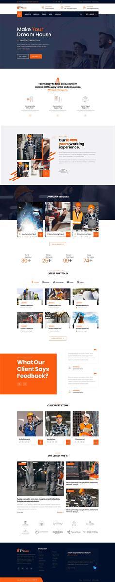大气bootstrap工业建筑公司网站响应式模板