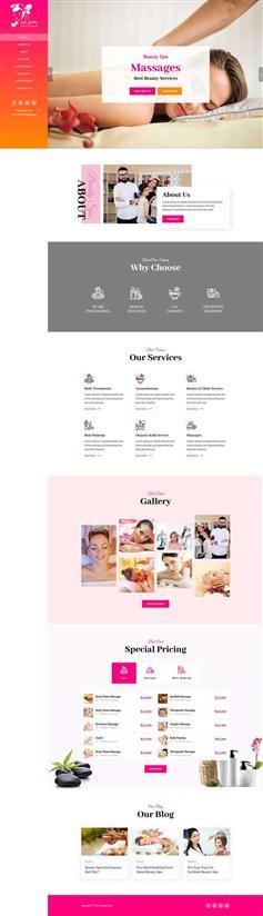 女性Spa美容沙龍網站HTML前端模板