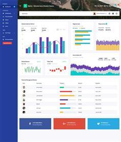 响应式网站业务统计管理系统html5模板