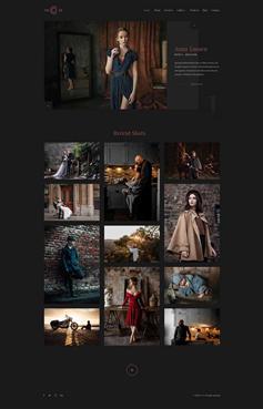 精美html攝影作品集網站靜態模板