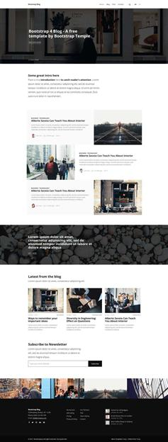 bootstrap图片博客网站前端模板