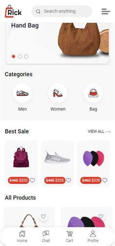 移動端鞋服箱包電商網站靜態模板