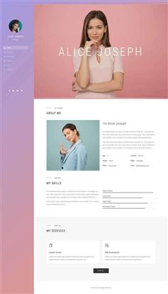 响应式ui设计师个人简历网页模板