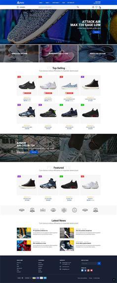 时尚运动鞋电商购物网站bootstrap模板