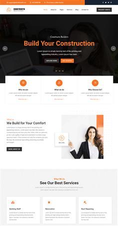 bootcss響應式建筑類公司網站模板