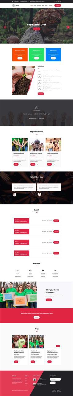 html响应式慈善公益宣传网页模板