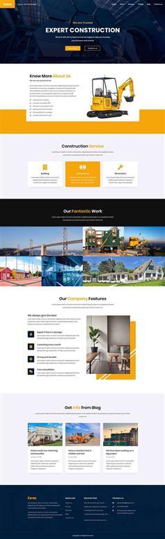 多用途HTML工业建筑网站前端模板