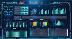 机器状态监控统计投屏页面模板