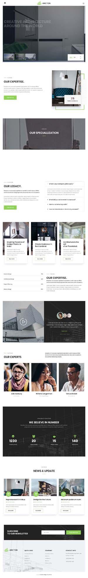 HTML5室内建筑设计公司官网模板