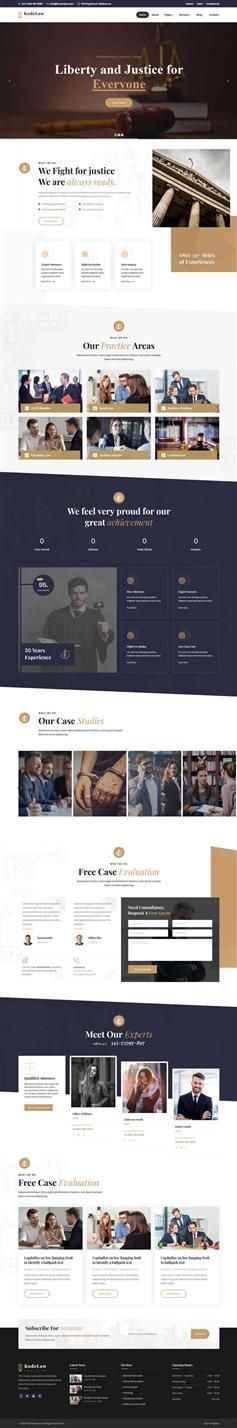 響應HTML5律師法律咨詢網站模板