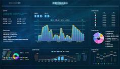 综合数据可视化展示页面模板