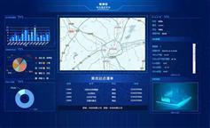 蓝色的农业综合监控平台H5模板