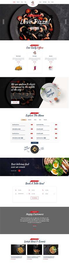 大气html5外卖餐饮预订网站模板