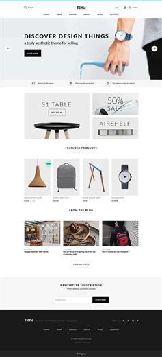 響應式電子商務銷售商店網站模板