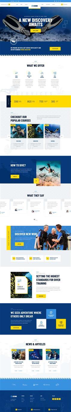 水上运动潜水服务公司网站页面模板