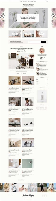 生活记录个人相册博客网页模板