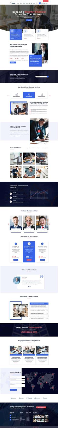 金融投资咨询类企业网站前端模板