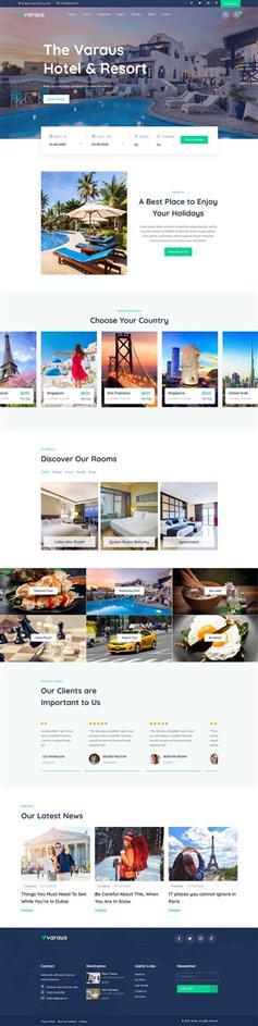 大气HTML5旅游酒店预订响应式模板