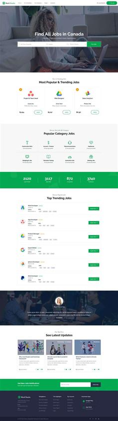 響應式大型招聘社交網站html模板