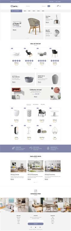 簡潔精美家具購物平臺網頁前端模板