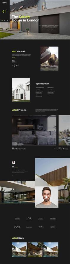 创意html5建筑设计业务官网模板