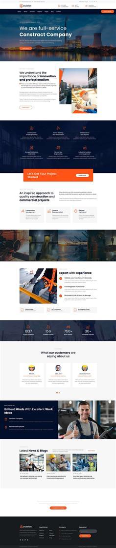大氣bootstrap重工業生產企業網站模板